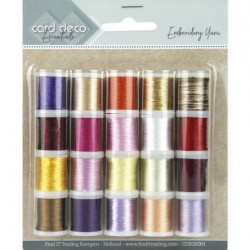 (CDEGK001)Card Deco Essentials - Embroidery yarn mix 01