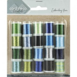 (CDEGK002)Card Deco Essentials - Embroidery yarn mix 02