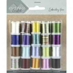 (CDEGK003)Card Deco Essentials - Embroidery yarn mix 03