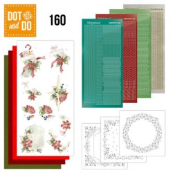 (DODO160)Dot and Do 160 Red Christmas Ornaments
