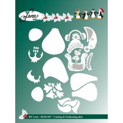 (BLD1207)By Lene Cutting & Embossing Dies penguins