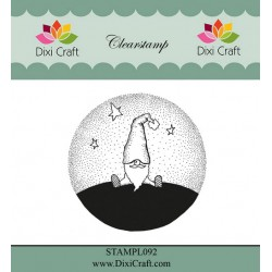 (STAMPL092)Dixi Craft Clear Stamp gnome in landscape