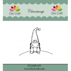 (STAMPL093)Dixi Craft Clear Stamp sitting gnome