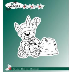 (BLS1123)By Lene Clear stamps christmas rabbit