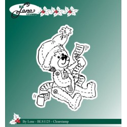 (BLS1125)By Lene Clear stamps christmas teddy bear