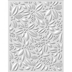(EF3D-014)Creative Expressions Embossing folder Retro Poinsettia