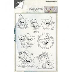 (6410/0500)Clear stamp Best Friends