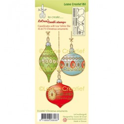 (55.6067)Clear Stamp Christmas ornaments