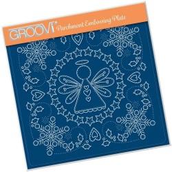 (GRO-CH-41297-03)Groovi Plate A5 TINA'S EMBROIDERY ANGEL