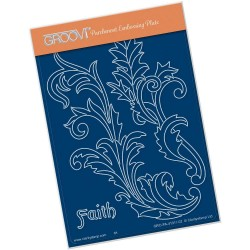 (GRO-PA-41311-02)Groovi® plate A6 FILIGREE SWIRLS - FAITH