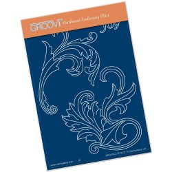 (GRO-PA-41312-02)Groovi® plate A6 FILIGREE SWIRLS - JOY