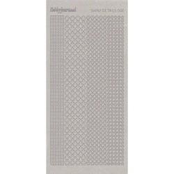 (SDS006TZ)Shiny Details - Flowers - Zilver
