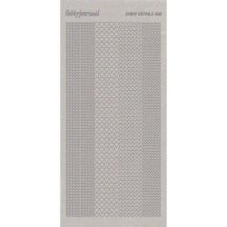 (SDS005TZ)Shiny Details - Hearts- Zilver