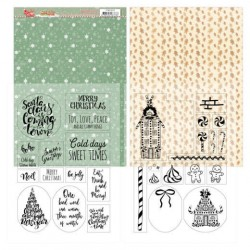 (YCMC1003)Mica Sheets - Yvonne Creations - Sweet Christmas