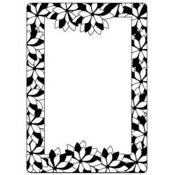 Embossing folder poinsettia frame (CTFD 4009)