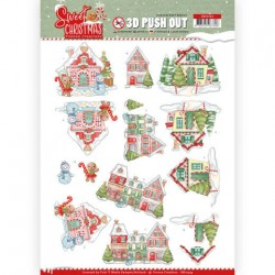 (SB10394)3D Pushout - Yvonne Creations - Sweet Christmas - Sweet Houses