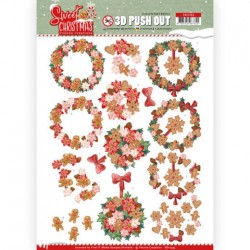 (SB10395)3D Pushout - Yvonne Creations - Sweet Christmas - Sweet Wreaths