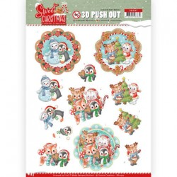 (SB10397)3D Pushout - Yvonne Creations - Sweet Christmas - Sweet Winter Animals