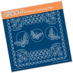 (GRO-FL-41333-03)Groovi Plate A5 TINA'S FLORAL DELIGHT - FORGET ME NOT