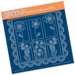(GRO-FL-41334-03)Groovi Plate A5 TINA'S FLORAL DELIGHT - DAISY