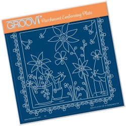 (GRO-FL-41331-03)Groovi Plate A5 TINA'S FLORAL DELIGHT - SUNFLOWER