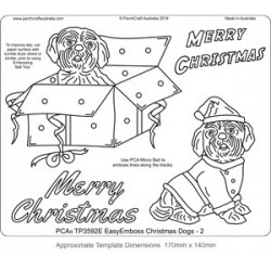 (TP3592E)PCA® - EasyEmboss Christmas Dogs - 2