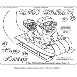 (TP3593E)PCA® - EasyEmboss Christmas Dogs - 3