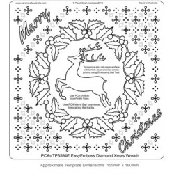 (TP3594E)PCA® - EasyEmboss Diamond Xmas Wreath