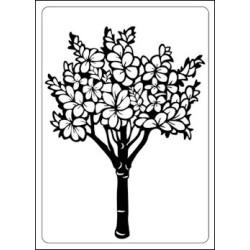 Embossing folder floral tree (CTFD 4004)