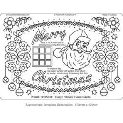 (TP3595E)PCA® - EasyEmboss Floral Santa