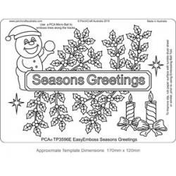 (TP3596E)PCA® - EasyEmboss Seasons Greetings