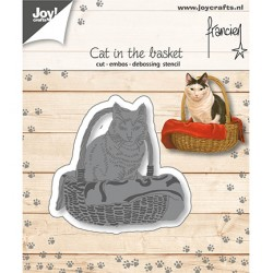 (6002/1360)Cutting embossing debossing dies Cat in the basket