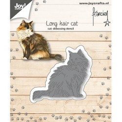 (6002/1361)Cutting debossing dies long hair cat