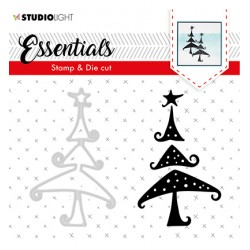 (BASICSDC36)Studio light Stamp & Die Cut Essentials Christmas Silhouettes nr.36