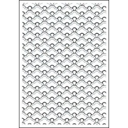 Embossing folder scallops (CTFD 3095)