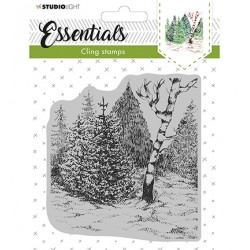 (CLINGSL14)StudioLight Cling Stamp Essentials Christmas nr.14