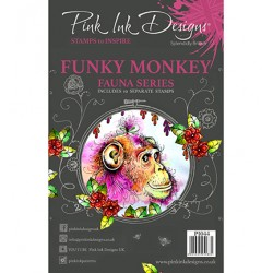 (PI044)Pink Ink Desings Cheeky Monkey