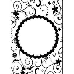 Embossing folder Fun Floral Frame (CTFD 3094)