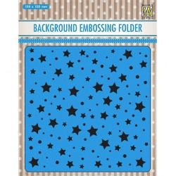 (EEB023)Nellie`s Choice Emb.folder Background Stars & dots