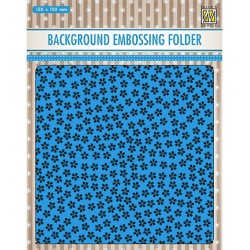 (EEB025)Nellie`s Choice Emb.folder Background Little flowers