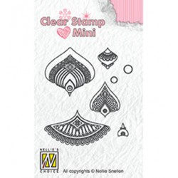 (MAFS014)Nellie's Choice Clear stamps Flower-1