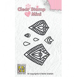 (MAFS015)Nellie's Choice Clear stamps Flower-Star