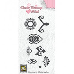 (MAFS016)Nellie's Choice Clear stamps Flower-2