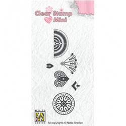 (MAFS017)Nellie's Choice Clear stamps Flower-3