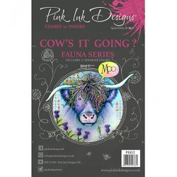 (PI052)Pink Ink Desings Cow's It Going?