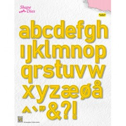 (SD176)Nellie's Shape Dies alphabet large