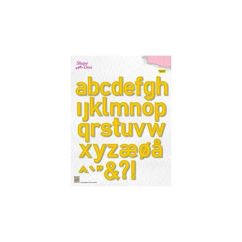 (SD176)Nellie's Shape Dies alphabet large