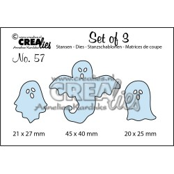 (CLSET57)Crealies Set of 3 no. 57 Ghosts