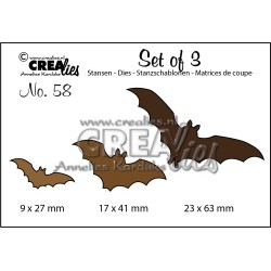 (CLSET58)Crealies Set of 3 no. 58 Bats
