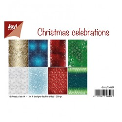 (6011/0628)Paper set A4 Design Christmas Celebrations